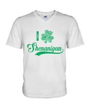 Shenanigan Irish Green Shamrock St Patrick's Day V-Neck T-Shirt thumbnail