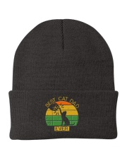 Best Cat Dad Ever - Vintage Father Daddy's Gift Knit Beanie thumbnail