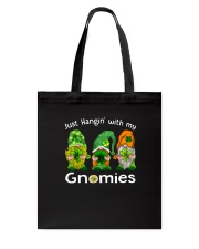 Just Hanging With My Gnomies Irish Green Shamrock  Tote Bag back