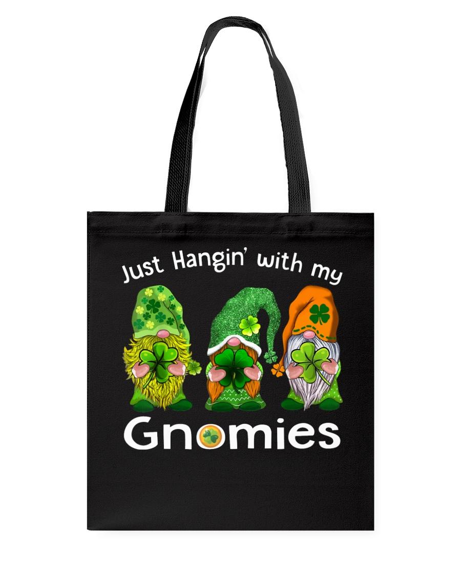 Just Hanging With My Gnomies Irish Green Shamrock  Tote Bag