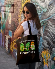 Just Hanging With My Gnomies Irish Green Shamrock  Tote Bag lifestyle-totebag-front-1