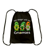 Just Hanging With My Gnomies Irish Green Shamrock  Drawstring Bag tile