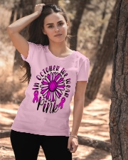 In October We Wear Pink Daisy Flower Breast Cancer Ladies T-Shirt apparel-ladies-t-shirt-lifestyle-06
