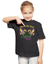 Mardi Gras Unicorn Face For Kids Youth T-Shirt lifestyle-youth-tshirt-front-2