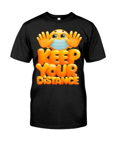 Keep Your Distance - Face Medical Emoji Gift
