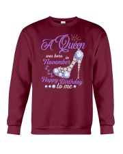 A Queen Was Born In November Happy Birthday to Me  Crewneck Sweatshirt thumbnail