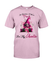 In October I Wear Pink For My Auntie Gnome Breast Classic T-Shirt thumbnail