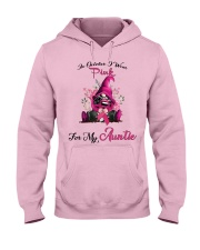 In October I Wear Pink For My Auntie Gnome Breast Hooded Sweatshirt thumbnail