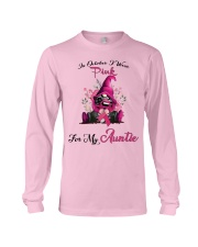 In October I Wear Pink For My Auntie Gnome Breast Long Sleeve Tee thumbnail
