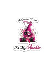 In October I Wear Pink For My Auntie Gnome Breast Sticker - Single (Vertical) thumbnail