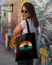 Vintage Ostrich - Funny Retro Bird Costume Tote Bag lifestyle-totebag-front-1