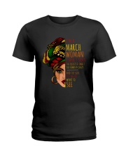 I'm A March Woman I Have 3 Sides Birthday Gift Ladies T-Shirt thumbnail