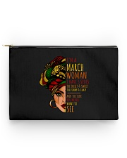 I'm A March Woman I Have 3 Sides Birthday Gift Accessory Pouch - Standard thumbnail