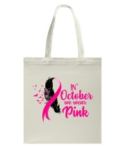 In October We Wear Pink Ribbon Leave Seagull Tote Bag thumbnail