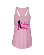 In October We Wear Pink Ribbon Leave Seagull Ladies Flowy Tank thumbnail
