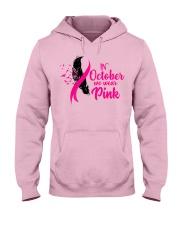 In October We Wear Pink Ribbon Leave Seagull Hooded Sweatshirt thumbnail