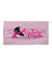 In October We Wear Pink Ribbon Leave Seagull Cloth face mask thumbnail