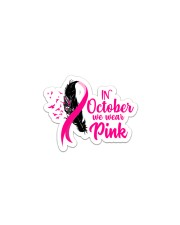 In October We Wear Pink Ribbon Leave Seagull Sticker - Single (Vertical) thumbnail