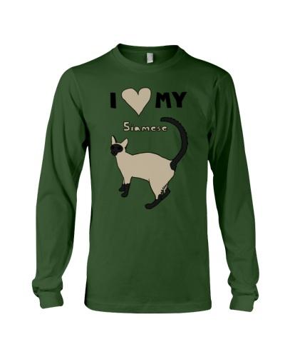i heart my siamese Womens T-Shirts