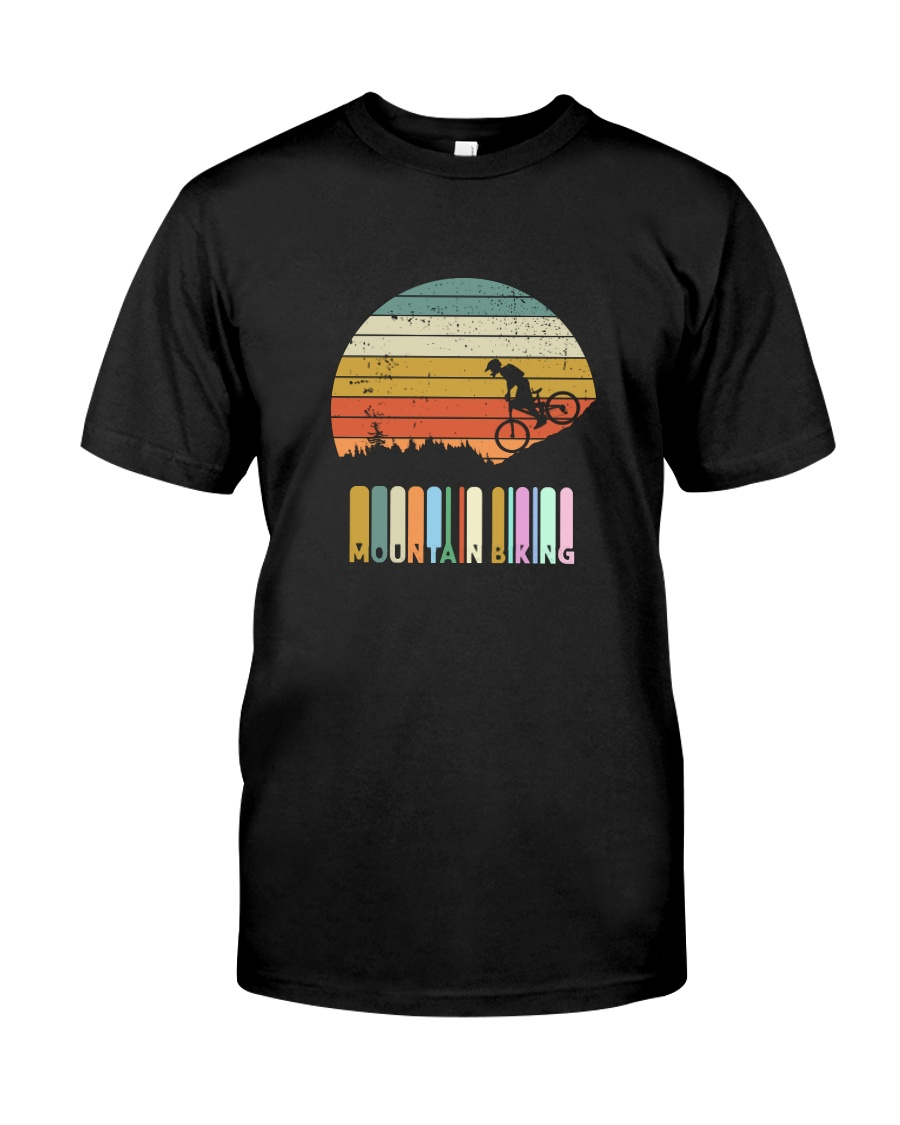 Vintage Mountain Biking Tshirt Gift For Men Boys Classic T-Shirt