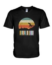 Vintage Mountain Biking Tshirt Gift For Men Boys V-Neck T-Shirt thumbnail