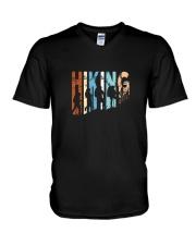 Vintage Hiking Tshirt Gift for Men and Women V-Neck T-Shirt thumbnail