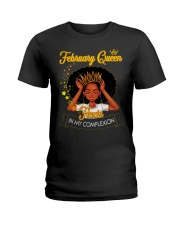 FEBRUARY QUEEN Ladies T-Shirt front