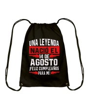 14 DE AGOSTO Drawstring Bag thumbnail