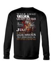 H- Grumpy old  man printing graphic tees Crewneck Sweatshirt thumbnail