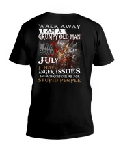H- Grumpy old  man printing graphic tees V-Neck T-Shirt thumbnail