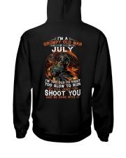 Grumpy old man July tee Cool T shirts LHA Hooded Sweatshirt thumbnail
