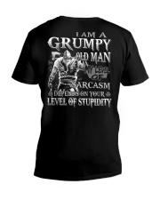 Grumpy old man V-Neck T-Shirt thumbnail