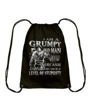 Grumpy old man Drawstring Bag thumbnail
