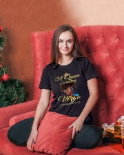 A Queen Was Born As Virgo Ladies T-Shirt lifestyle-holiday-womenscrewneck-front-2