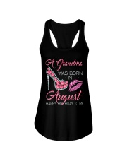 A GRANDMA WAS BORN IN AUGUST Ladies Flowy Tank thumbnail
