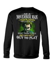 Birthday shirt design for November boys men Crewneck Sweatshirt thumbnail