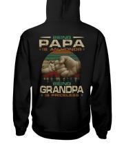 Best printing graphic tee shirt design for grandpa Hooded Sweatshirt back
