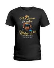A QUEEN WAS BORN MAY Ladies T-Shirt front