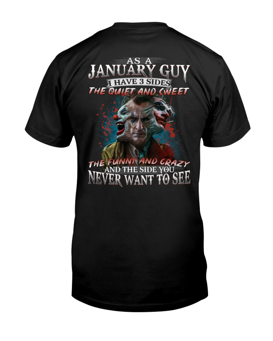 H-January T shirt Printing Birthday shirts for Men Classic T-Shirt