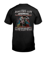 H-January T shirt Printing Birthday shirts for Men Classic T-Shirt back