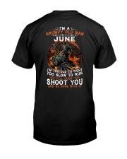 Grumpy old man June tee Cool T shirts LHA Classic T-Shirt back