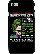 Birthday shirt design for November boys men Phone Case thumbnail
