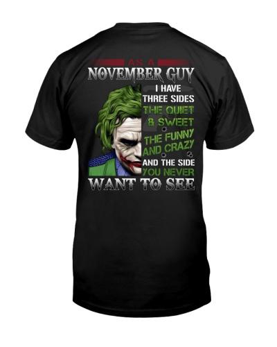 Birthday shirt design for November boys men