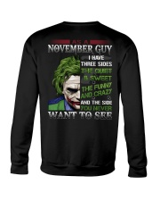 Birthday shirt design for November boys men Crewneck Sweatshirt thumbnail