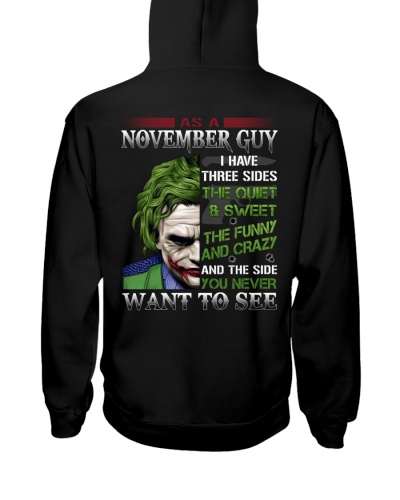 November Birthday shirt design tee for boys men