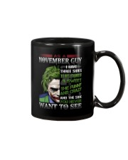 Birthday shirt design for November boys men Mug tile