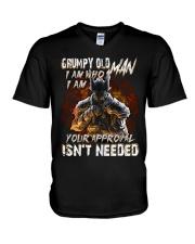 H- GRUMPY OLD MAN V-Neck T-Shirt thumbnail