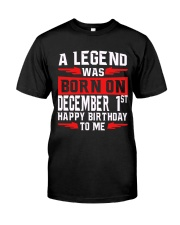 1st December Classic T-Shirt front
