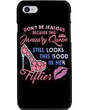 H- January Queen Shirt Birthday T Shirts for Women Phone Case thumbnail