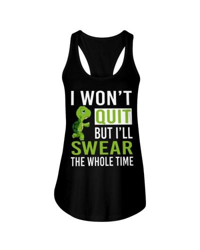 H- RUNNER Shirt i won't quit but swear